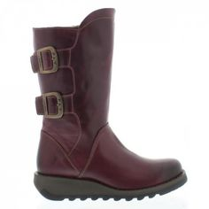 Fly London Sack Purple Leather Mid Calf  Boots. £114. Order yours > http://www.kindredsole.com/designers/fly-london/fly-london-sack-purple-leather-mid-calf-boots.html