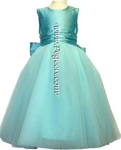 Tiffany blue tulle flower girl dresses of the week by Pegeen.com