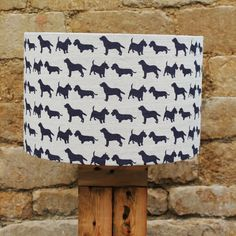 Pack of Dogs Dark Grey Linen Drum Light Shade, spectacularly sophisticated designs www.serendipityhomeinteriors.com