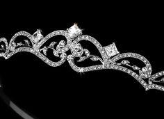 Vintage Inspired Antique Silver Bridal Tiara