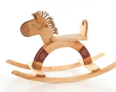 Personalized Wooden Rocking Horse Wooden Riding Toy Kids Toy