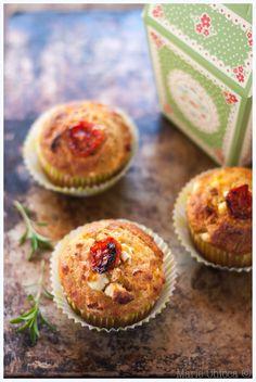 muffin epeautre fromage chevre tomtes confites et sarriette