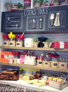 Kitchen Pantry Inspiration, chalkboard pegboard, burlap