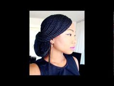 Just showing you how to do the classic up do with long box braids, this can also be done on natural hair, relaxed hair and extensions. I used 3 or so packs of expressions hair for this box braids style. The colour was 1b. Its so easy to wear and maintain, and this is one of my favourite styles! :)