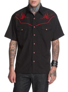 Rock Steady Flying Dead Woven | Hot Topic