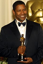 "Denzel Washington: Best Supporting Actor in 1989 for ""Glory"" and Best Actor Oscar in 2001 for ""Training Day."""