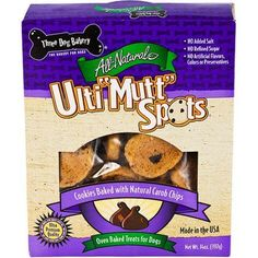 Three Dog Bakery Ulti-Mutt Spot Cookies with Carob Chips, 14 oz