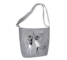 Dámská kabelka přes rameno Veselé kočky MarkModern Reusable Tote Bags, Design