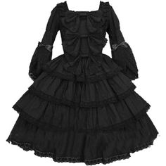 Partiss Women Long Sleeves With Bowknot Classic Lolita Fancy Dress: Amazon.co.uk: Clothing