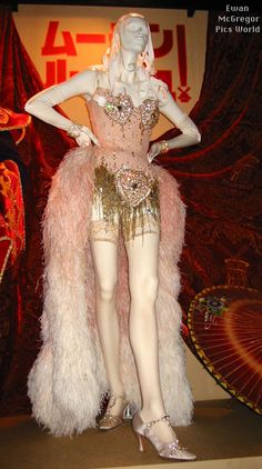 Exhibit of Satine's Pink Diamonds Costume from Moulin Rouge