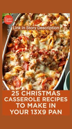 Easy Casserole Recipes, Casserole Dishes, Casserole Kitchen, Christmas Casserole, Beef Recipes, Cooking Recipes, Budget Recipes, Kraft Recipes, Soup Recipes