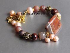 Gemstone Bracelets, Handmade Bracelets, Jewelry Bracelets, Jewelery, Handmade Jewelry, Mom Jewelry, Jewelry Crafts, Jewelry Design, Jewelry Making