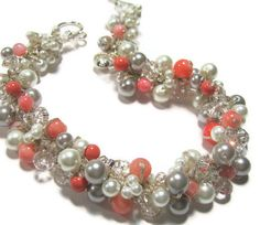 Persimmon and Gray Wedding Colors | ... Persimmon, Salmon, White, Silver Grey, Limited Edition Color Pearl