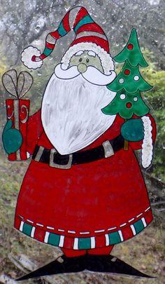 WICOART WINDOW COLOR STICKER STATIC CLING NOEL CHRISTMAS SANTA KLAUS PERE NAIF