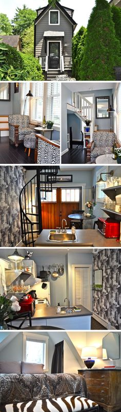 A three-story and 400 sq ft tiny house in Asheville, NC