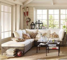 Nantucket Style - bead-board walls and ceiling