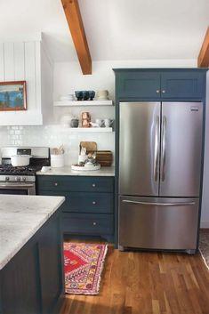 green-kitchen-cabinets Benjamin Moore's Hidden Falls