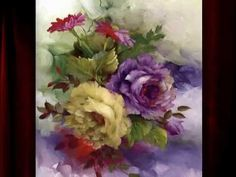 Gary Jenkins oil painter and flower specialist.