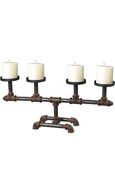 Sterling 129-1007 Industrial Pipe Candle Holder, 21 by 10-Inch, Restoration Rusted Black Best Price
