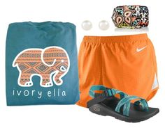 """In love with ivory ella"" by sassysouthernprep ❤ liked on Polyvore featuring NIKE, Chaco, Accessorize, Vera Bradley and vintage"