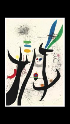 """Joan Mirò - """" La Femme Arborescente """", 1974 - Etching and aquatint in colors on Arches paper - Sheet : 1127 x 730 mm (*)"""