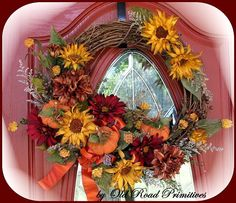 Image detail for -Would you like to learn how to make this Fall wreath?