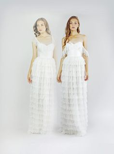 Fiona Silk and Lace Wedding Dress by Leanimal