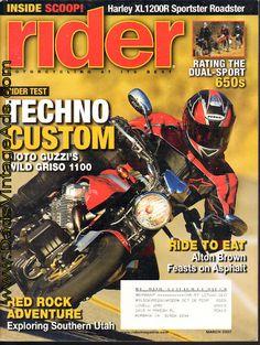 2007 March Rider #Motorcycle Magazine – Moto Guzzi's Wild Griso 1100