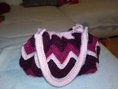 Horgolt táska/crochet zigzag bag