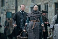"Official 212 ""The Hail Mary"" with Jack Randall (Tobias Menzies) and Claire Fraser (Caitriona Balfe) in Outlander Season Two on Starz"