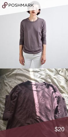 Everlane French terry sweater in mauve Comfiest sweater from Everlane. I have two other colors so wanted to reduce. Slight piling on the front. Everlane Sweaters Crew & Scoop Necks