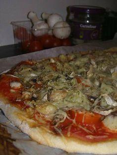 Un bon dîner rapide et trop gourmand, au lieu de s'arrêter à la pizzeria du coin, commander une pizza attendre une demi heure, et payer les yeux de la tête, ou au lieu de s'arrêter chez carrouf' et acheter une pizza surgelée pas terrible Je vous propose...