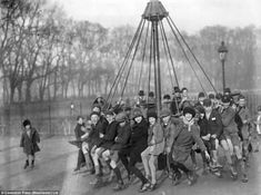 Wicksteed Park in Kettering, Northants, is using National Lottery money to re-create the world's oldest playground in a bid to counter the 'snowflake generation' blighting kids' playtime. Modern Playground, National Lottery, London History, Surfing Pictures, World War One, Vintage Photographs, Vintage Photos, Ocean Waves, Kids Playing