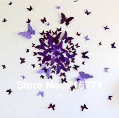 1000 images about 3d butterfly wall decor on pinterest - How to decorate butterfly ...