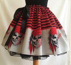 Skull Skirt Skulls Goth clothes Goth skirt Skulls by RoobyLane