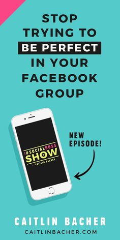 Do you obsess over every single thing you post inside your Facebook group? Do you procrastinate when it comes to creating social media content because you're worried it might not be good enough? Are you terrified of live video because you think everyone w