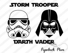 Storm trooper, darth vader, starwars, SVG, PNG, DXF couper fichiers utiliser avec Silhouette Studio, Cricut, Machines de découpe, scrapbooking, pochoir