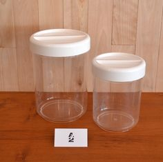 Mid-Century Modern - Deux pots de rangement