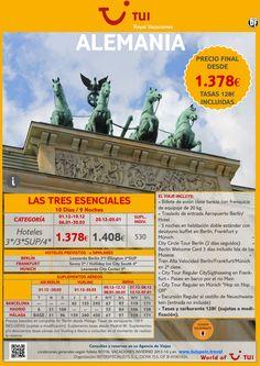 ALEMANIA - Las tres esenciales. Precio final desde 1.378€ ultimo minuto - http://zocotours.com/alemania-las-tres-esenciales-precio-final-desde-1-378e-ultimo-minuto/