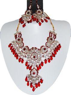 Bollywood Style Indian Imitation Necklace Set / AZBWBR013-GMR Arras Creations http://www.amazon.com/dp/B00IH6P73Y/ref=cm_sw_r_pi_dp_4c.6tb1JAEFGH