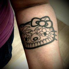 dia de los muertos hello kitty tattoo
