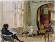The Artist's Son Erik Edelfelt at Home in Kilo Albert Edelfelt (Finnish, Watercolour. Albert married Ellen de la Chapelle in They had known each other since childhood. The marriage started. Vincent Van Gogh, Amber Tree, Room Of One's Own, Reading Art, Digital Museum, Collaborative Art, Art Studies, Family Portraits, Watercolor