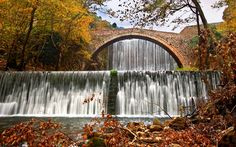 11 Most Beautiful Waterfalls in Greece - Sofia Adventures Arch Bridge, Small Waterfall, Amsterdam City, Rock Pools, Beautiful Waterfalls, Fishing Villages, Archaeological Site, Greece Travel, Travel Europe
