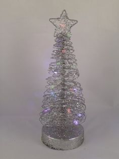 Christmas Concepts 25cm Glitter Spiral Rattan Tree 15 Led Lights ra40 * See this great product.