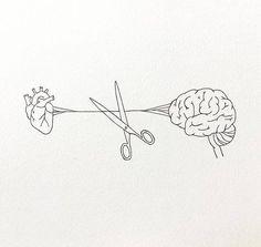 Drawing Tips brain drawing Art Drawings Sketches, Tattoo Drawings, Cute Drawings, Pencil Drawings, Tattoo Illustrations, Heart Drawings, Aesthetic Drawing, Aesthetic Art, Arte Com Grey's Anatomy