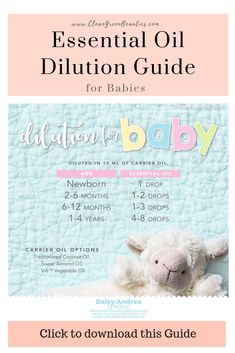 Essential Oil Baby Dilution guide Are essential oils safe for babies? How to use essential oils for babies? Free Essential oils for babies infographic. Learn about essential oils for babies here. Young living essential oils for babies essential oils for