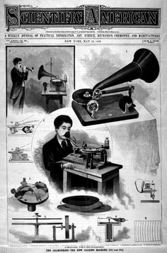 Early audio recording from a 1896 issue of Scientific American.