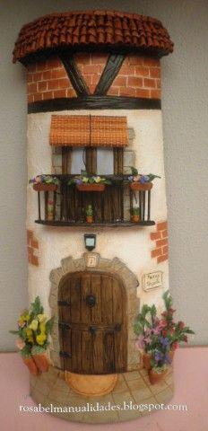 Rosabel manualidades: Teja decorada