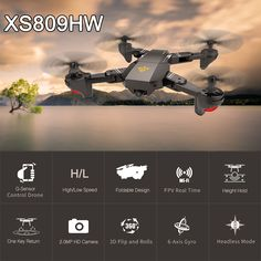Cheap drone with, Buy Quality drone with wifi camera directly from China rc drone Suppliers: 2017 Newest VISUO FPV Fold RC Quadcopter RTF RC Drone with WiFi Camera Headless Mode VS Apple Technology, Drone Technology, Drone Rc, Drone Quadcopter, Camera Drone, Smartwatch, Wifi, Apple Watch Fashion, Foldable Drone