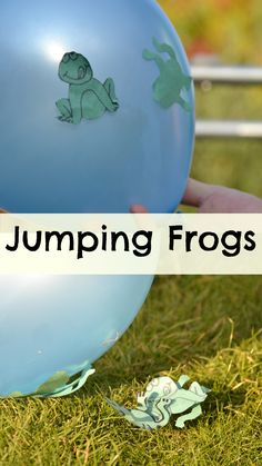 Fun Jumping frogs, great for exploring Static Electricity #Science #PreschoolScience #PrimaryScience